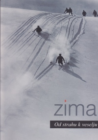 Naslovnica brošure Zima, avtorja dr. Boruta Batagelja. Brošuro je lično oblikoval Jože Domjan, Triartes.